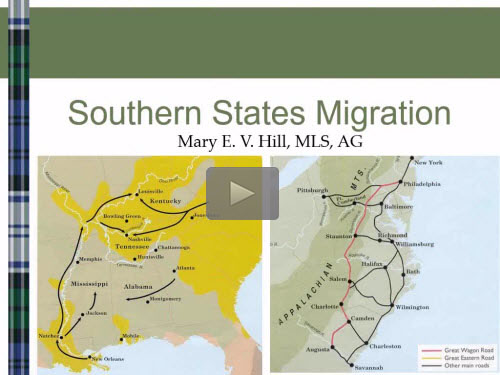 Southern States Migration Patterns - free webinar by Mary Hill, AG now online for limited time
