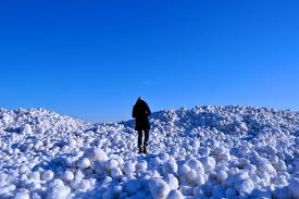 bolas de gelo lago top