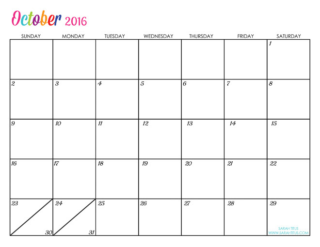 Editable Calendar October 2015 | How To Write A Resume For Hr Position