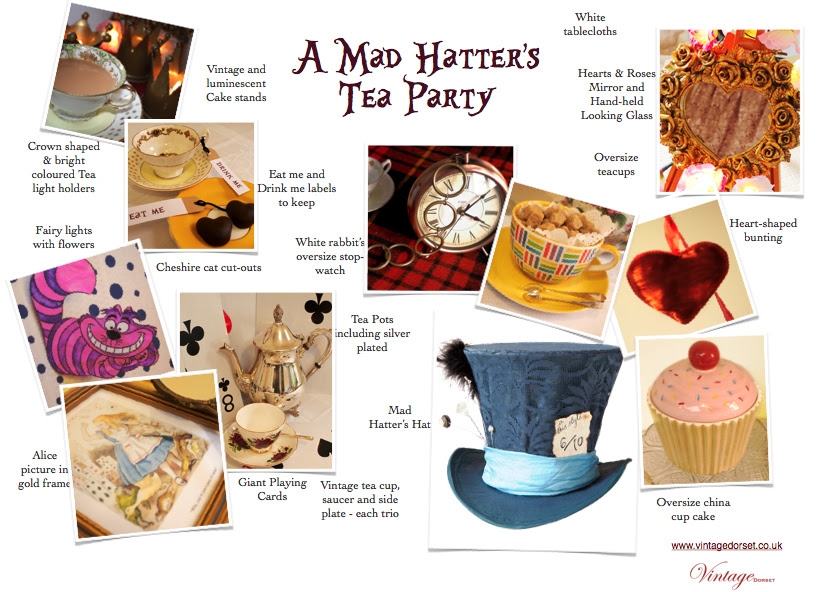 Vintage Dorset Mad Hatters Tea Party