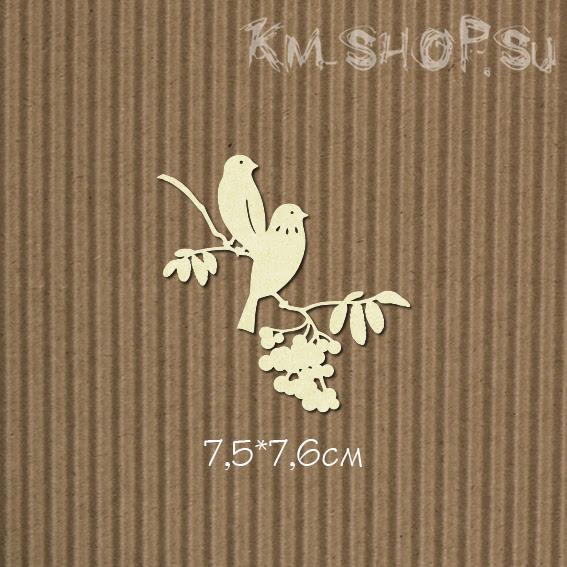 Чипборд Птахи на рябине
