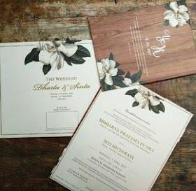 Pernikahan Simple Elegant Contoh Undangan Pernikahan