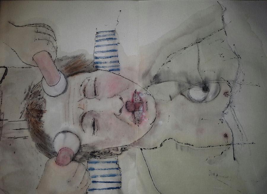 Inside Mental Illness Album Painting by Debbi Chan