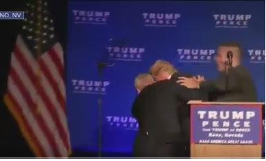 Donald Trump tuvo que ser evacuado de un escenario por Servicio Secreto