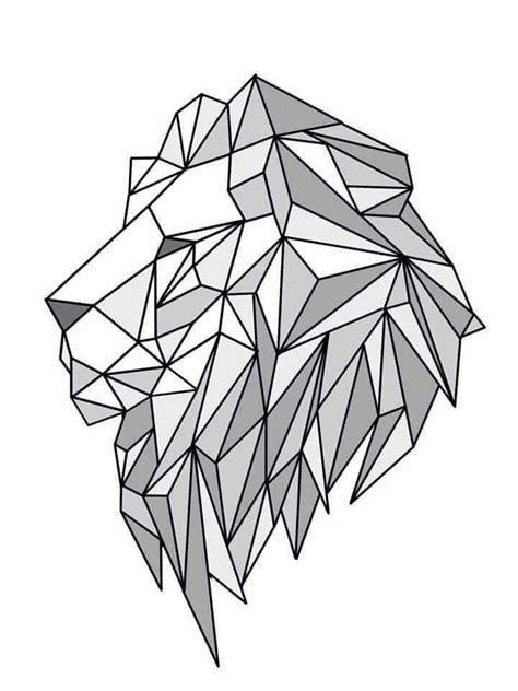 lion geometric create  june pur  pinterest lion