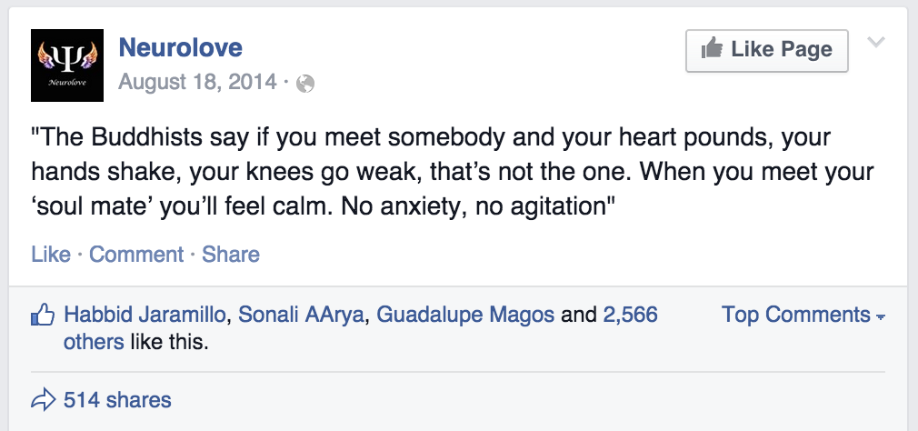 When You Meet Your Soul Mate Youll Feel Calm Fake Buddha Quotes