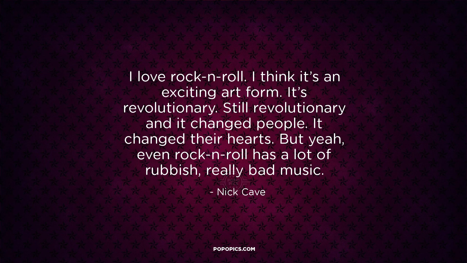 I Love Rock N Roll I Think It S An Exciting Art Quotes By