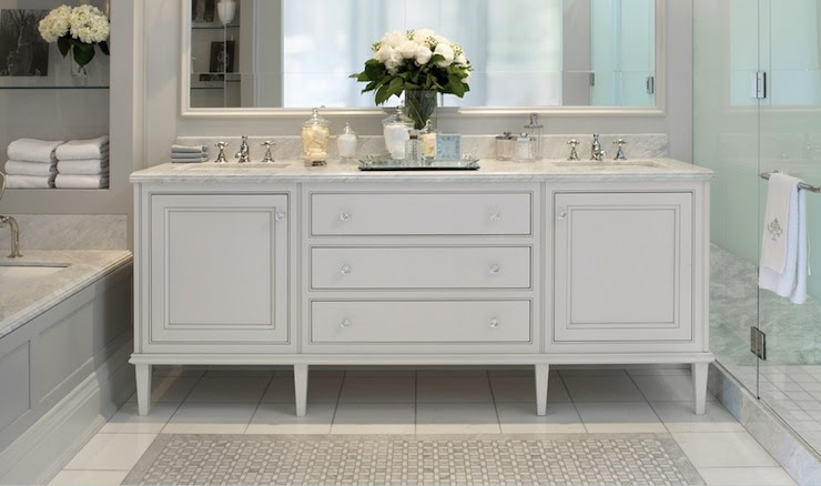 Double Sink Console - Transitional - bathroom - Downsview Kitchens