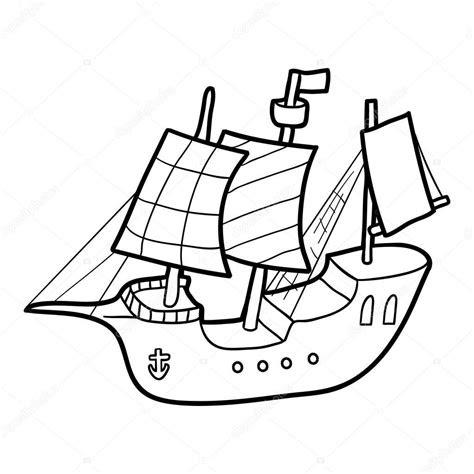 boyama kitabi yelkenli gemi stok vektoer  ksenyasavva