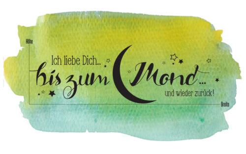 Ich Liebe Dich Bis Zum Mond 674 Schlafzimmer Wandspruch Wandaufkleber Wandtattoo Children S Bedroom Boy Decor Decals Stickers Vinyl Art Home Garden
