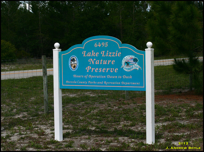 Lake Lizzie Sign