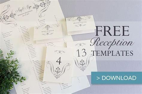 Free Printable Wedding Reception Templates   Wedding stuff