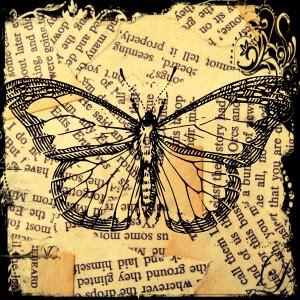 butterfly digital scrapbook paper