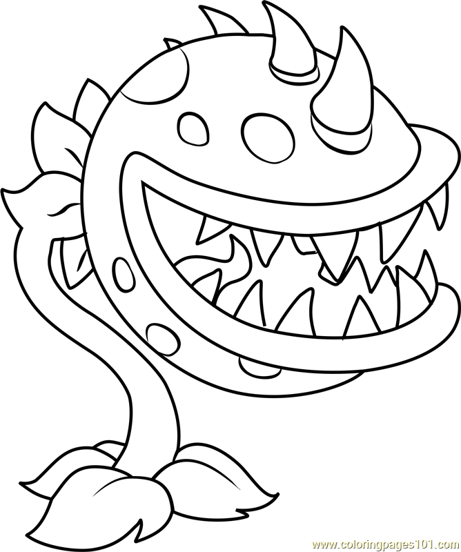 Chomper Coloring Page - Free Plants vs. Zombies Coloring ...