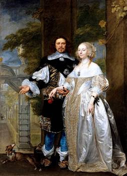 Portrait of William Cavendish and Margaret, later in life, by Gonzales Coques