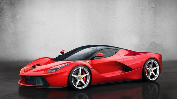 Ferrari's LaFerrari hybrid on display at the Geneva Motor Show, on March 5, 2013.