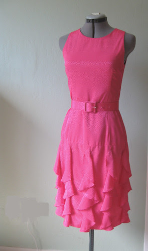 pinkdress ruffles