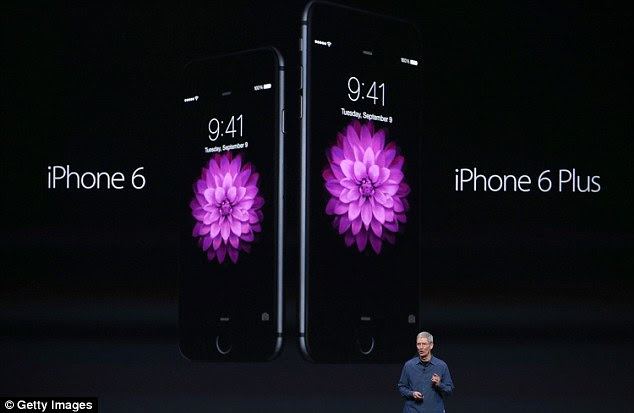 The iPhone 6 has a 4.7-inch screen, curved edges and will be available in dark black and gold, while the iPhone 6 Plus has a 5.5-inch screen and 185 per cent more pixels than the 5S