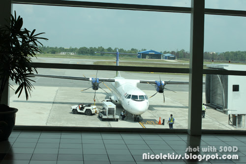 mas wings at kuching airport