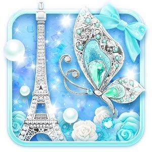 Turquoise Diamond Butterfly Live Wallpaper   Android Apps