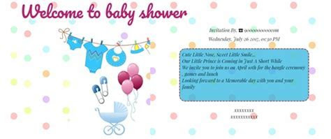 Free Baby Shower Invitation Card & Online Invitations