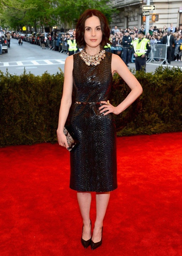 5 MET Michelle Dockery wearing Burberry to the Metropolitan Museam of Art 2013 Costume Institute Gala in New York - 6 May 2013