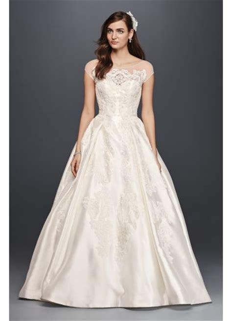 Oleg Cassini Illusion Cap Sleeve Wedding Dress   David's