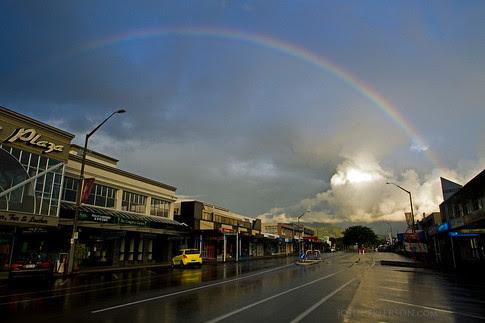 Rainbow in Taupo, New Zealand