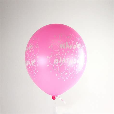 Pink Happy Birthday Inflated Balloon   Partyspot