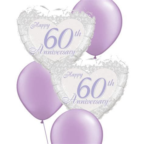 60th Anniversary Balloon Bouquet   Party Fever