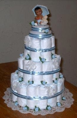 Blue Baby Boy Diaper Cake 21317979