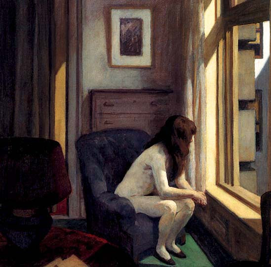 Pintura idealista americana por el modernista Hopper.