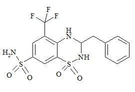 Bendroflumethiazide o-isomer