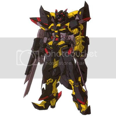 Gundam Astray Gold Frame Amatu Mina Custom, see the hip saber and the left arm claw?