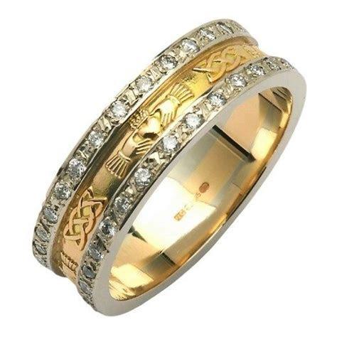 Claddagh & Celtic Knot Diamond Pavé Wedding Band