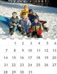 Calendar 01 January 2007
