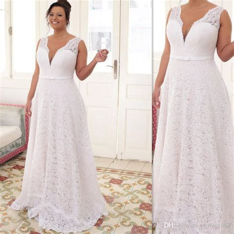 Discount Plus Size Wedding Dresses 2017 White Lace Sexy