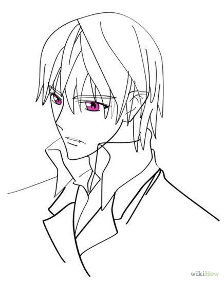 Anime Vampire Boy Drawing