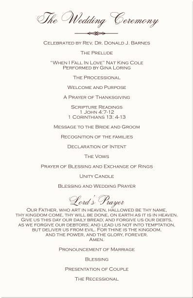 christian wedding programs   Ceremony   Ceremony noong