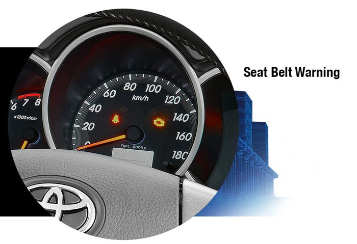 Seat belt warning New Toyota Rush