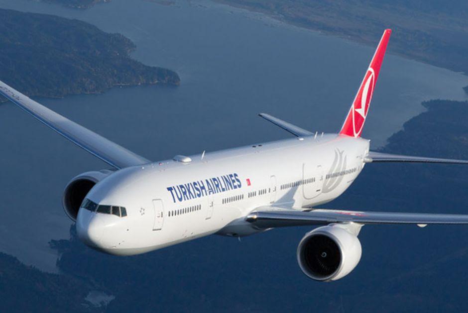 Avião da frota da empresa turca em foto de arquivo Divulgação/Facebook
