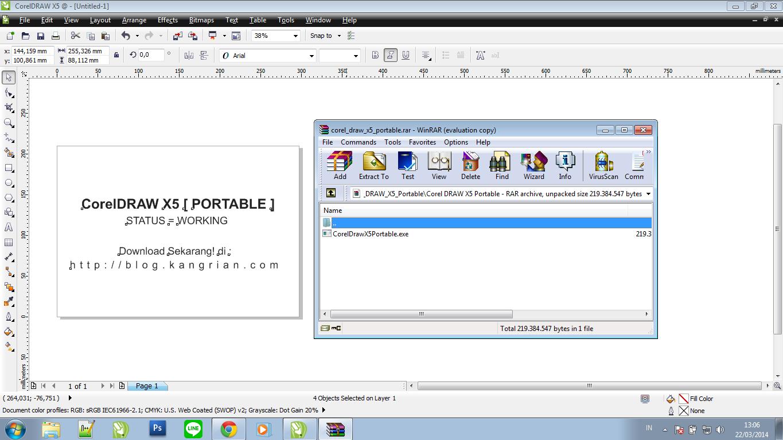 Screenshot Interface CorelDRAW X5 Portable