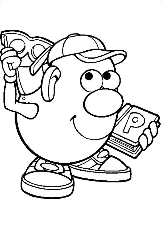 Kids-n-fun.com | 57 coloring pages of Mr. Potato Head