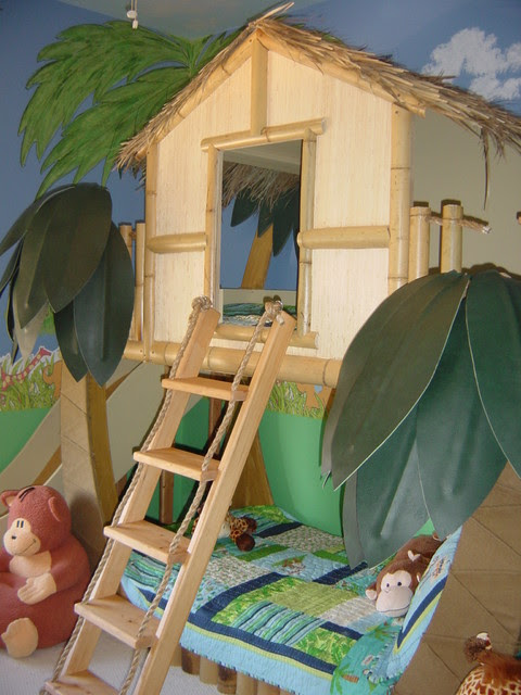Kids Tropical Beach Theme Bedroom & Decor - tropical - kids beds ...