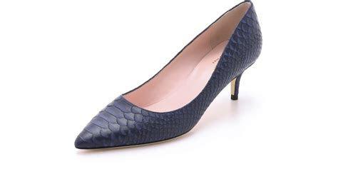 Blue Kitten Heel Shoes   Fs Heel