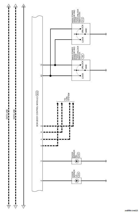 Nissan Rogue Service Manual Wiring Diagram Without Intelligent Key System Body Control System Electrical Power Control