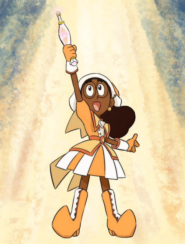 I received a really sweet gift from a fan of SU and Ojamajo Doremi the other week, so here's a thank you drawing of Connie as Hazuki. Thanks!