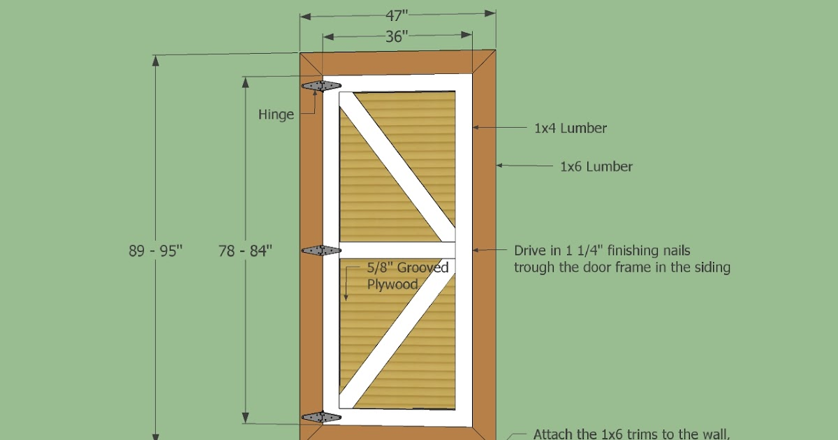 Learn How To Build A Shed Door With T1 11 Haddi