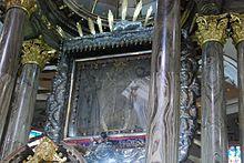 Cuadro Original de la Virgen de Chiquinquirá.JPG