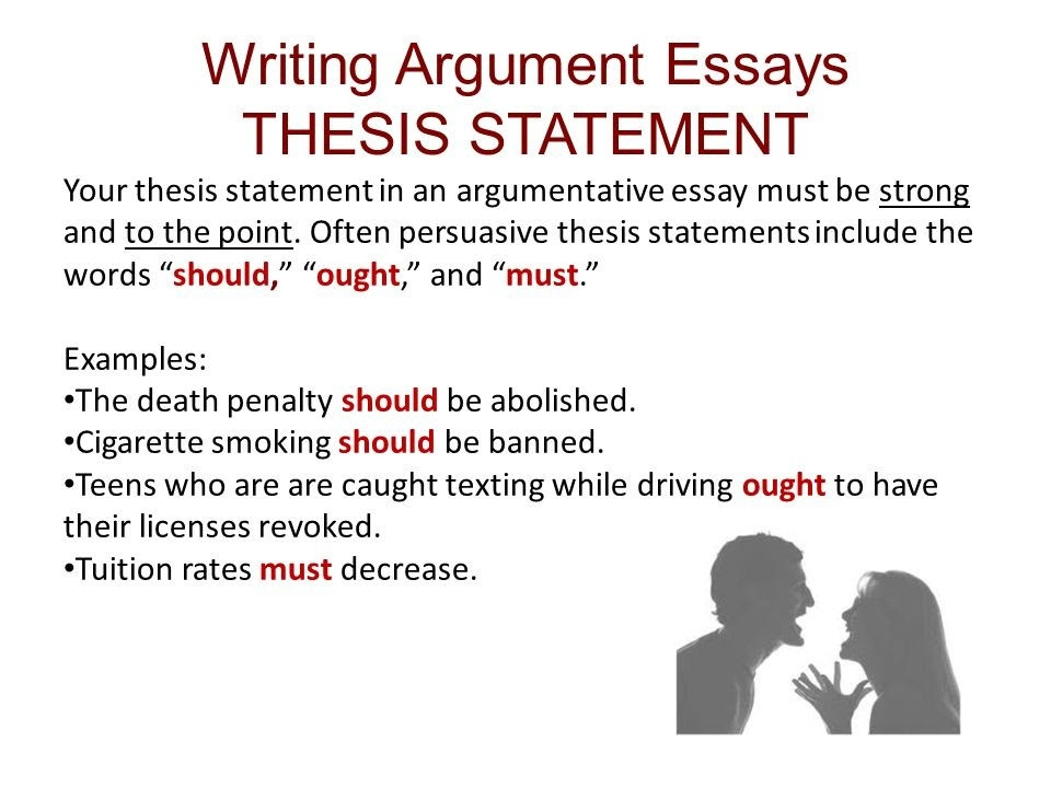 how to write a thesis statement in argumentative essay